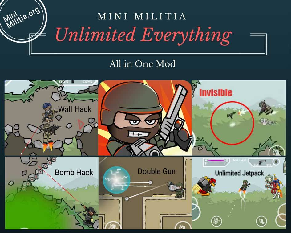 Mini Militia Double Gun Unlimited Mod